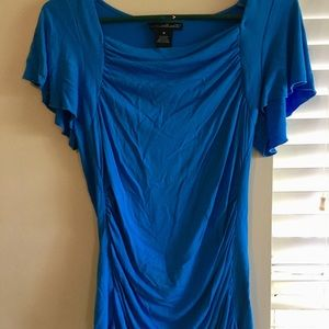 Blue fitted tee